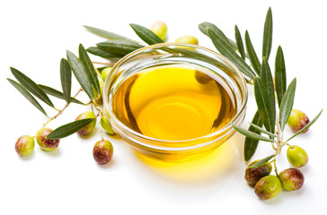 Olive oil and olive fruits