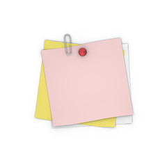 Blank Adhesive Paper Note