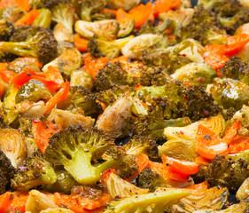 Vegetarian food, baked  vegetables