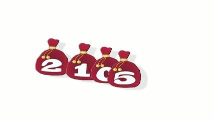Новогодние мешки с подарками