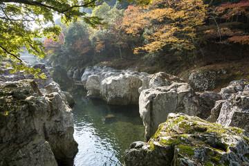 耶馬溪・猿飛千壺峡の紅葉