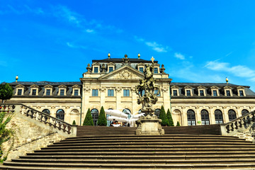 Fulda - Orangerie Terrasse im Schlossgarten