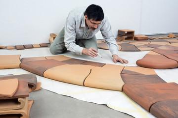 In the ceramic studio: The tiles are ready