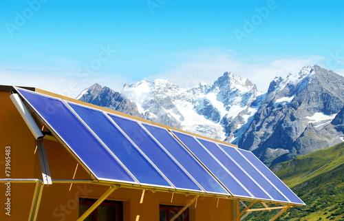Capteurs d 39 nergie solaire arkivfoton och royaltyfria bilder - Capteur d energie solaire ...