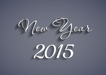 Beautiful elegant text design of happy new year 2015, easy edita