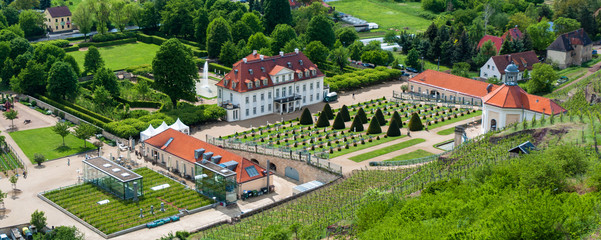 Wackerbarth Castle panorama, Radebeul