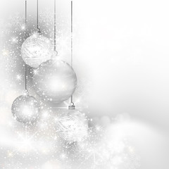 Christmas silver background, easy all editable