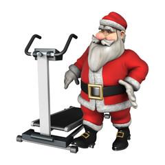 Santa Ready to Exercise