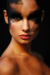Fashion Make Up Woman Portrait