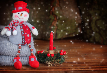 Christmas decoration with snowman