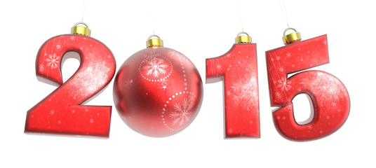 New year 2015 with Christmas ball