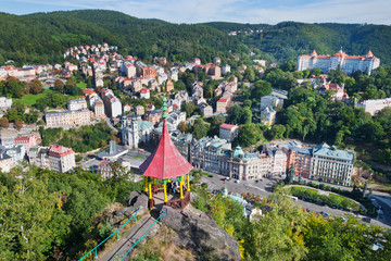 czar Peter the Great viewpoint, Karlovy Vary, Czech republic