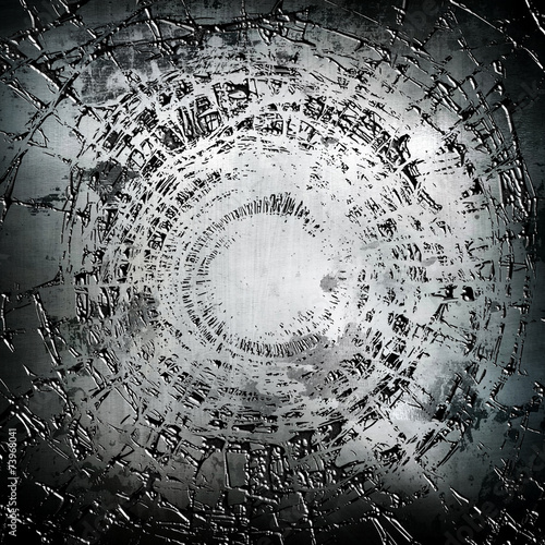 Fototapeta cracked metal