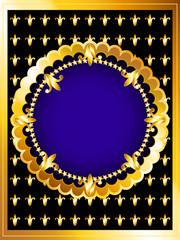 Luxurious gold card
