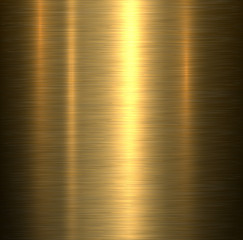 Metal background, gold brushed metallic texture plate.