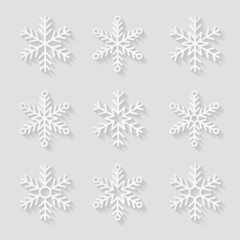 Decorative paper snowflakes