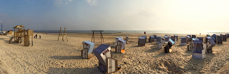 Norderney Panorama am Strand