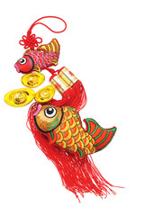 Auspicious Fish and Gold Ingot ornaments