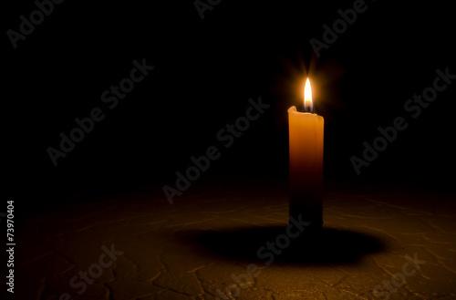 Leinwanddruck Bild Candle, flame.