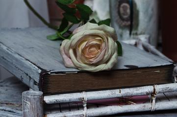 Роза на книге