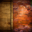 brick and wood board background