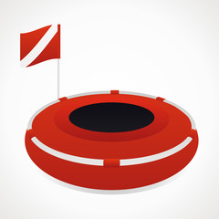 Diving buoy.