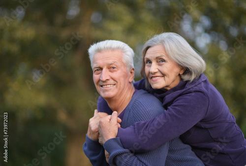 Leinwanddruck Bild happy senior couple