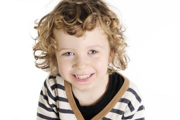 happy cute little boy