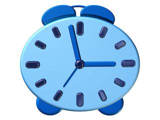 Modern alarm clock design in blue