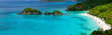 Trunk bay on St John island, US Virgin Islands - 73972636