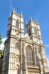 Architectural detail of Westminster Abbey in London, UK