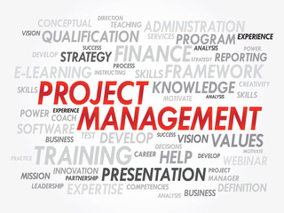 Vector Word cloud of Project Management related items