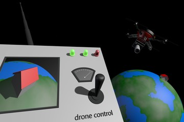 Drone neemt foto's van de aarde vanuit de ruimte
