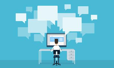 business communication online network concept