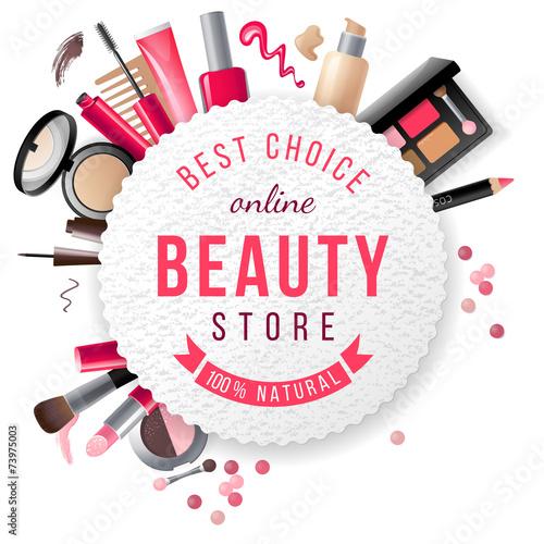 beauty store emblem - 73975003
