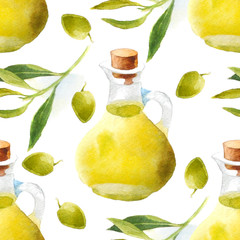 watercolor olive oil pattern