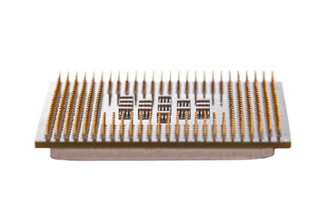 Computer CPU isolated on a white background