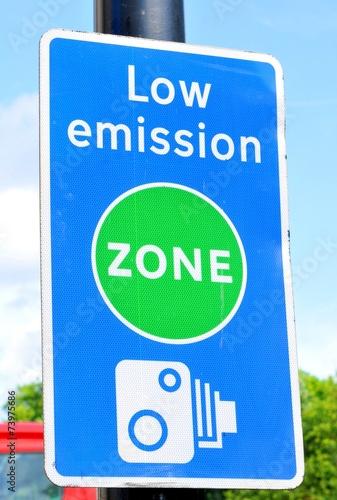Leinwandbild Motiv Low emission zone