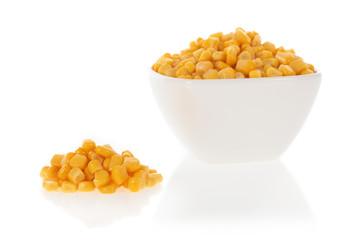 Sweet corn in a bowl