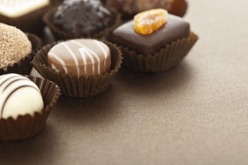 Assorted gourmet chocolate bonbons