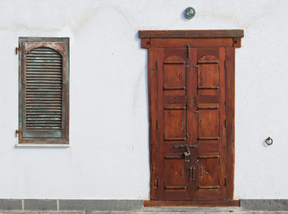 weird wooden door