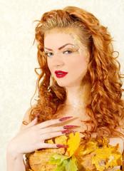 Autumn woman concept