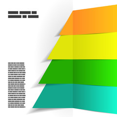 Modern abstract striped christmas tree background