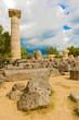 Obrazy na płótnie, fototapety, zdjęcia, fotoobrazy drukowane : The Temple of Zeus ruins in ancient Olympia, Peloponnes, Greece