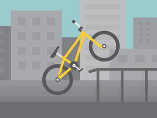 BMX bike flat style illustration