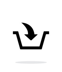 Add to basket simple icon on white background.