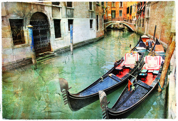 Venetian canals. artwork in painting style