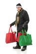 Senior Man Christmas Shopping