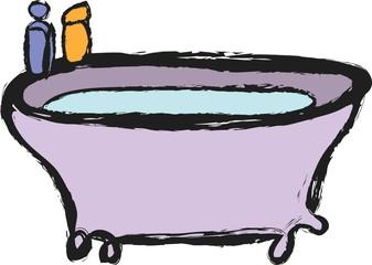doodle old bathtub