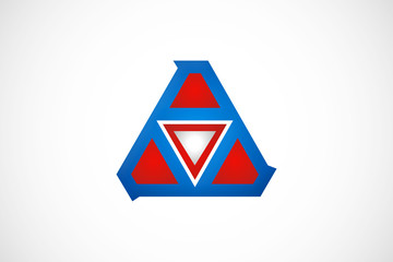 business abstract triangle geometry construction logo vector